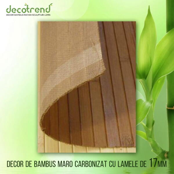 Decor bambus maro carbonizat cu lamele 17mm