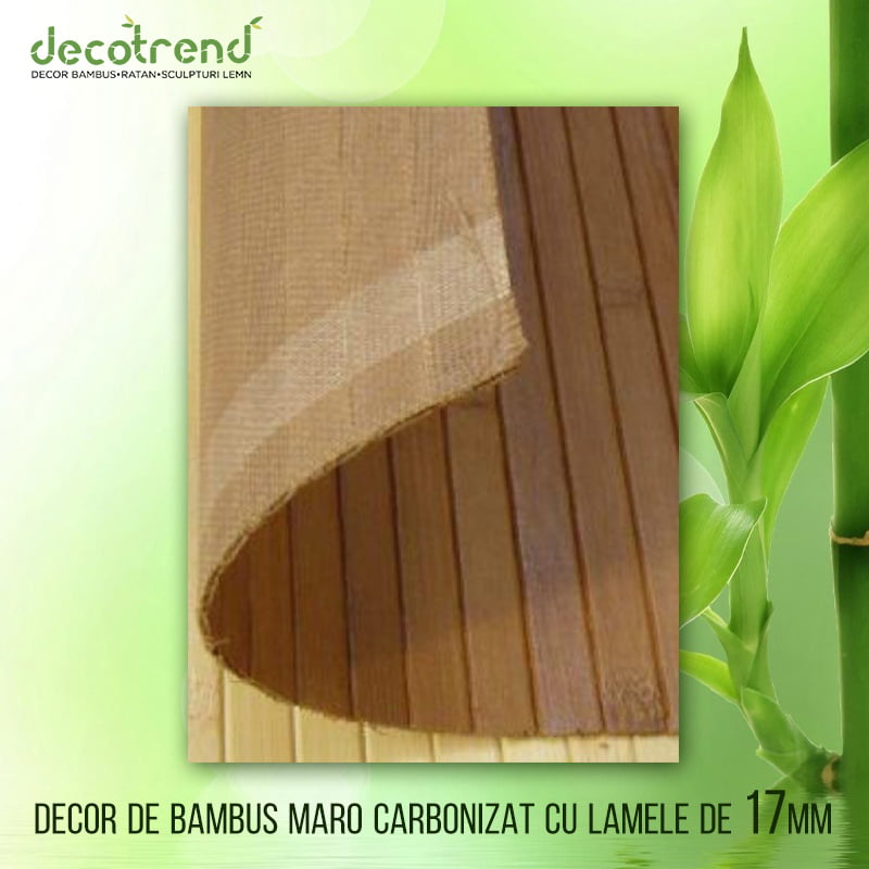 Decor bambus maro carbonizat cu lamele 17mm