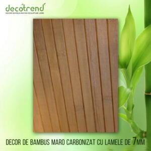 Decor de bambus maro carbonizat cu lamele de 7mm