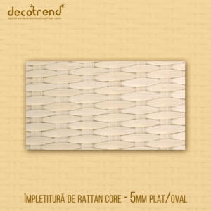 Împletitură rattan core fir de 5mm plat oval