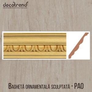 Bagheta ornamentala sculptata din arbore de cauciuc PAO