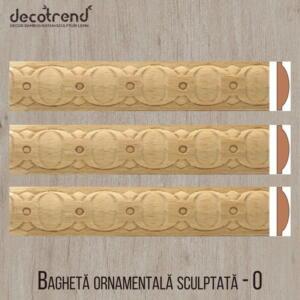 Bagheta ornamentala sculptata din lemn de fag O