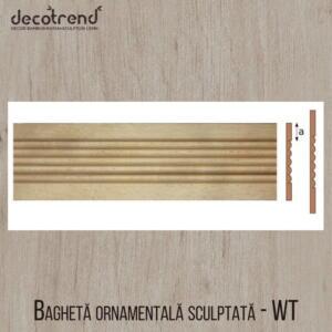 Bagheta ornamentala sculptata din lemn de fag WT