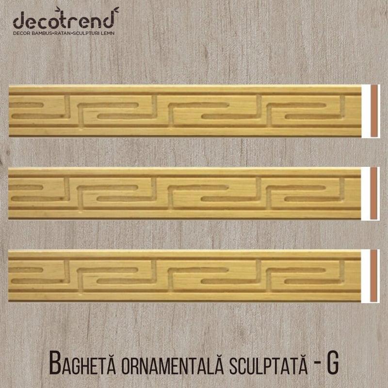 Bagheta ornamentala sculptata din lemn de ramin G