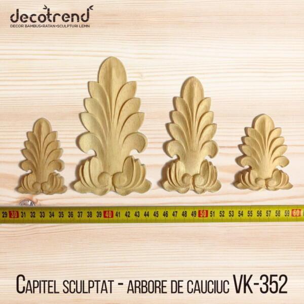 Capitel sculptat - arbore de cauciuc VK-352