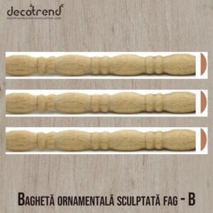 profil ornamental sculptat din lemn de fag B