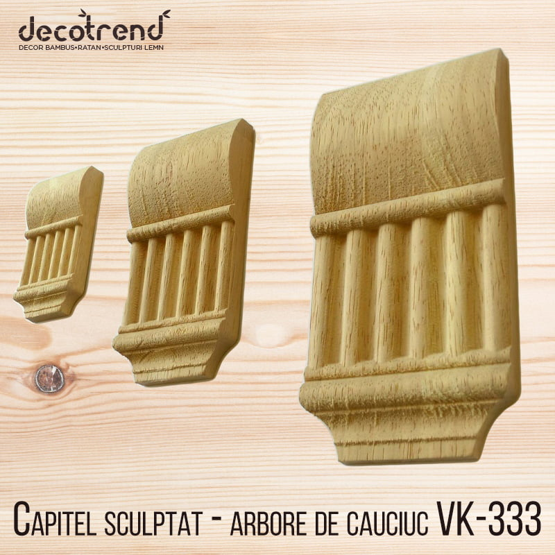 Capitel sculptat - arbore de cauciuc VK-333