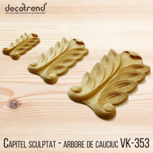 Capitel sculptat - arbore de cauciuc VK-353