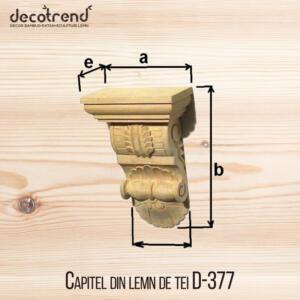 Capitel din lemn de tei D-377