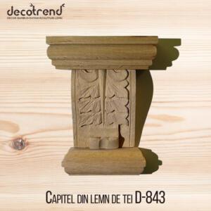 Capitel din lemn de tei D-843