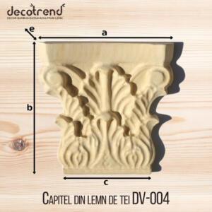 Capitel din lemn de tei DV-004