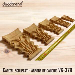 Capitel sculptat - arbore de cauciuc VK-379 foto 01