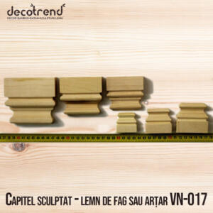 Capitel sculptat - lemn de fac sau artar VN-017 foto 1