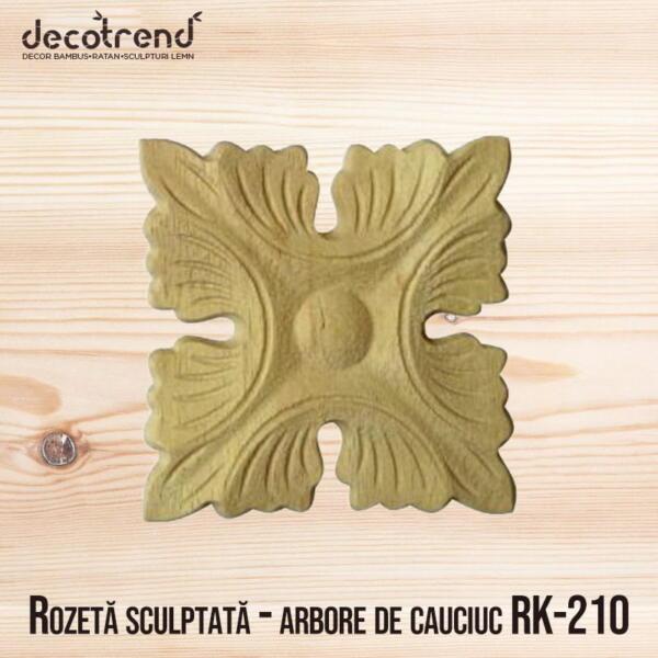 Rozetă sculptată - arbore de cauciuc RK-210