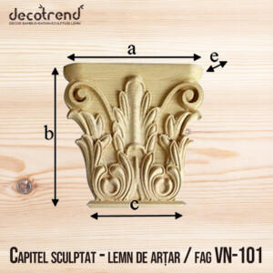 Capitel sculptat - lemn de artar - fag VN-101 01