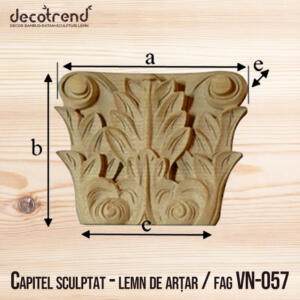 Decoratiuni din lemn cu model frunza de acanta VN-057 1