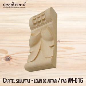 Sculptura din lemn decoratiuni capitel VN-016 - 01