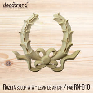 Ornamente mobila sculptura din lemn model cu fundita rn-910