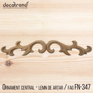 Decoratiune din lemn ornament sculptat in forma simpla FN-347
