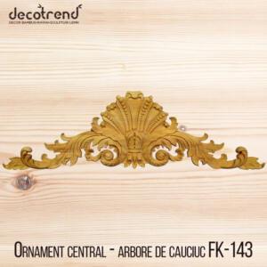 Decoratiuni din lemn ornament din lemn orizontal cu margele si frunze FK-143