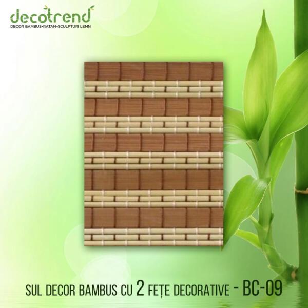 BC-09 Sul decor bambus cu 2 fete decorative 01
