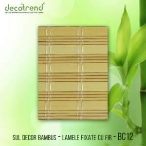 BC12 Sul decor bambus - lamele fixate cu fir