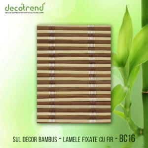 BC16 Sul decor bambus - lamele fixate cu fir
