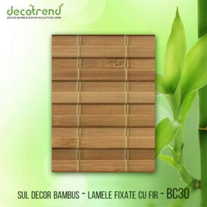 BC30 Sul decor bambus - lamele fixate cu fir