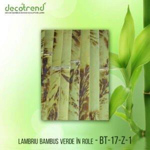 BT-17-Z-1 Lambriu bambus verde în role