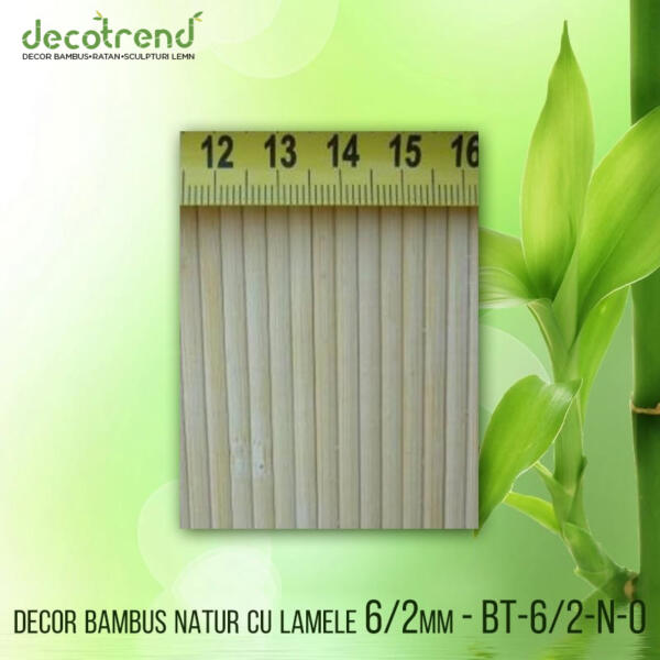 BT-6_2-N-0 Decor bambus natur cu lamele 6_2mm