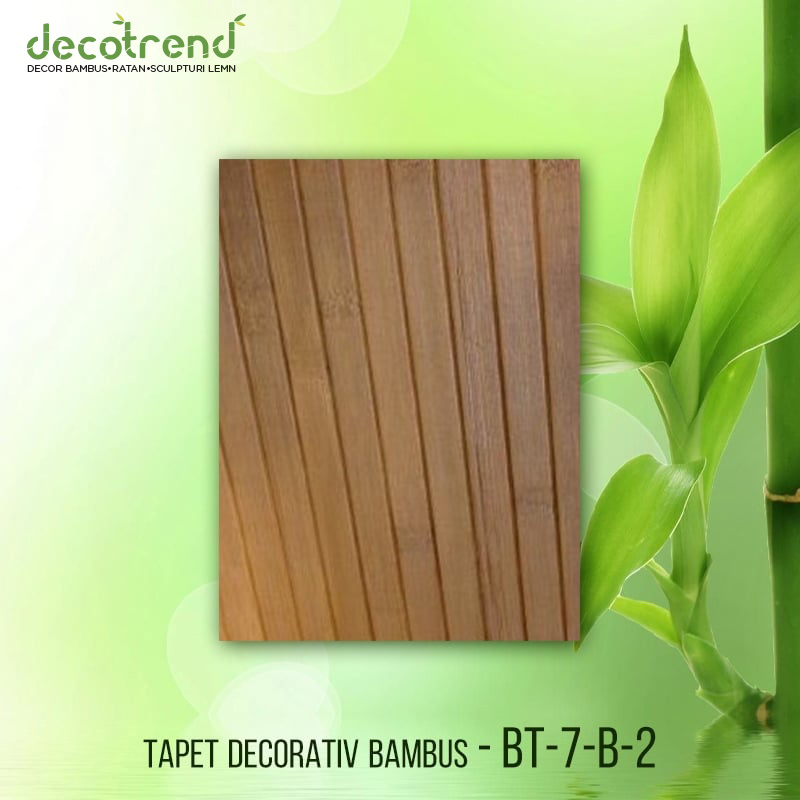 BT-7-B-2 Decor de bambus maro carbonizat