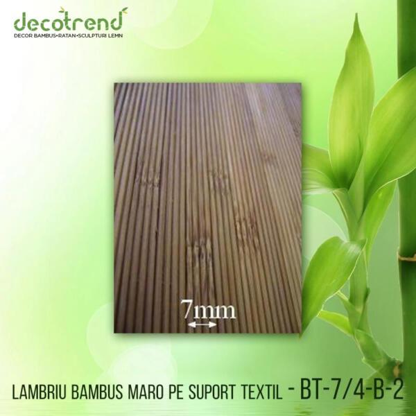 BT-7_4-B-2 Lambriu bambus maro pe suport textil