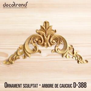 Ornament sculptat - arbore de cauciuc D-388