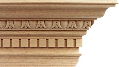 bagheta decorativa din lemn