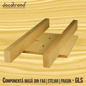 Componenta pentru masa glisanta din fag sau stejar - GLS