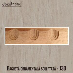 Bagheta lemn, bagheta lemn ornamentala, bagheta decorativa mobila - J30