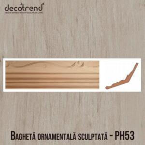 Bagheta ornamentala sculptata din lemn PH53